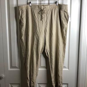 NWT Old Navy size XXL linen blend Capri pants